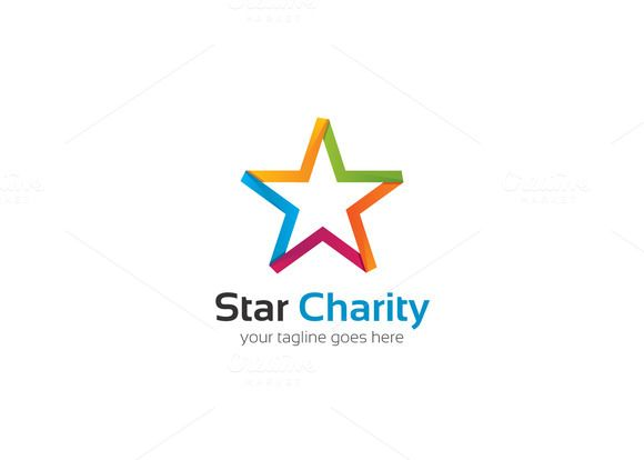 Star Charity Logo by XpertgraphicD on Creative Market