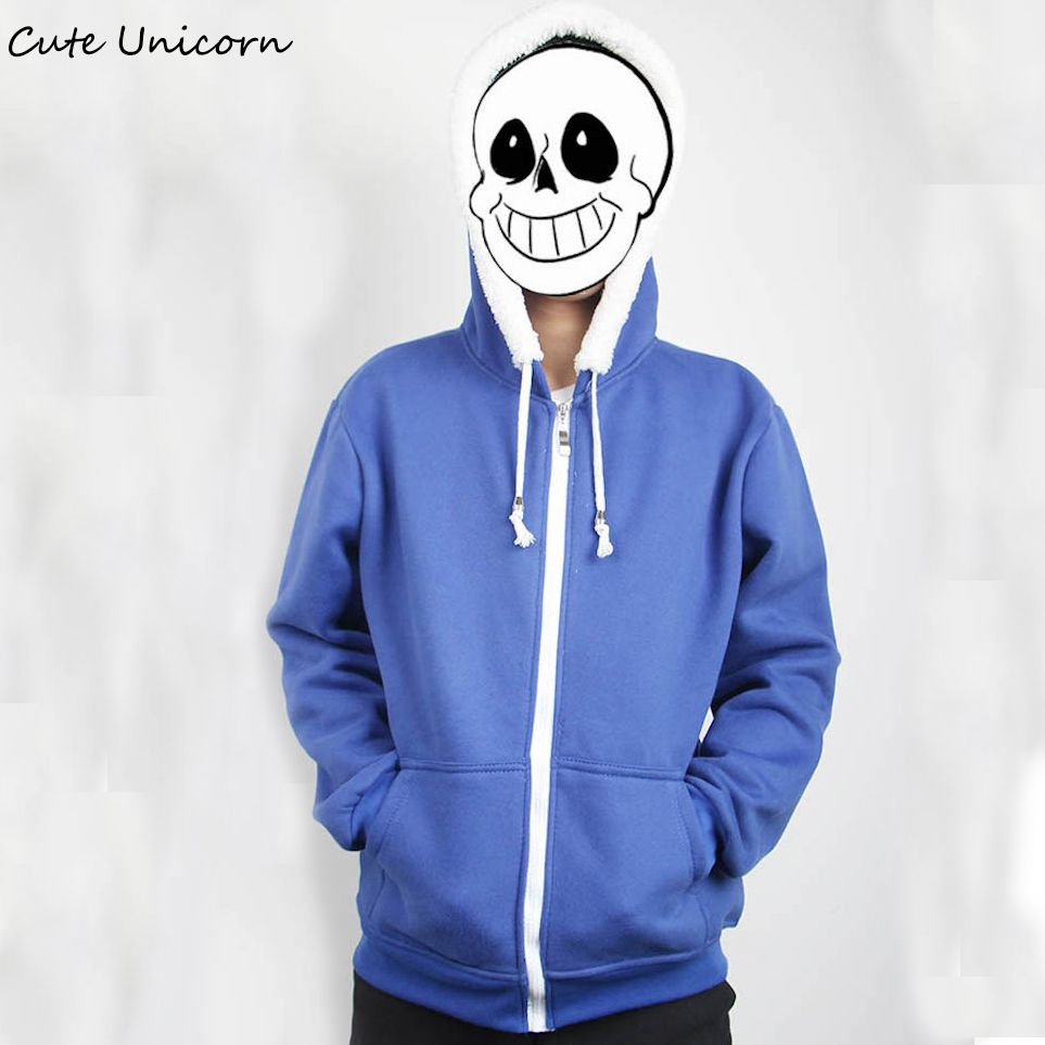 Anime Casual Hooded Coat Clothes Undertale Sans Hoodies Sweatshirts Jacket XXL