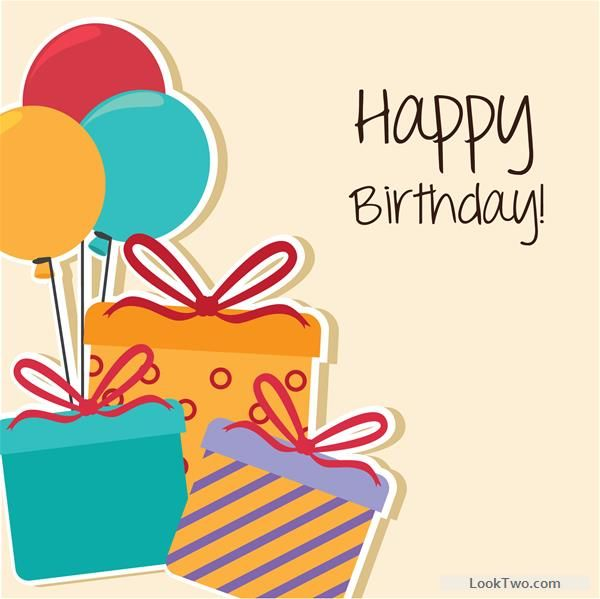 Free Cartoon style Happy Birthday greeting card template 02 vector - birthday greetings download free