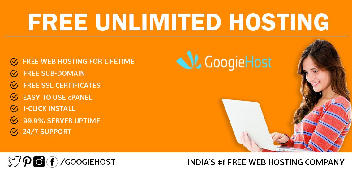 GoogieHost Free Web Hosting - Guaranteed 99 9% Uptime Get Fastest