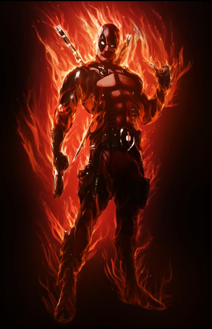 Im On Fire Cool Deadpool Deathstroke Comics Deadpool Comic Art