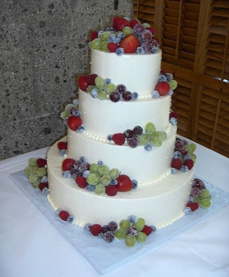 Using these tips decorate your wedding cake with fresh fruit how to decorate a wedding cake without it costing a fortune is to do it yourself and there are lots of easy but stunning ways to do this solutioingenieria Image collections
