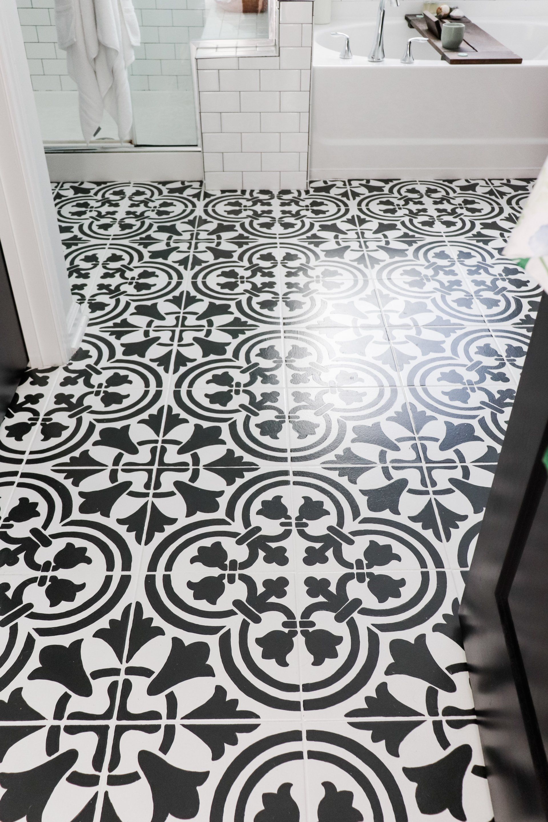 Wondering About Painted Tile Durability Do You Want To Know How Well Painted Tiles Hold Up We Put Our Diy Painted Ti Painting Tile Painting Tile Floors Tiles