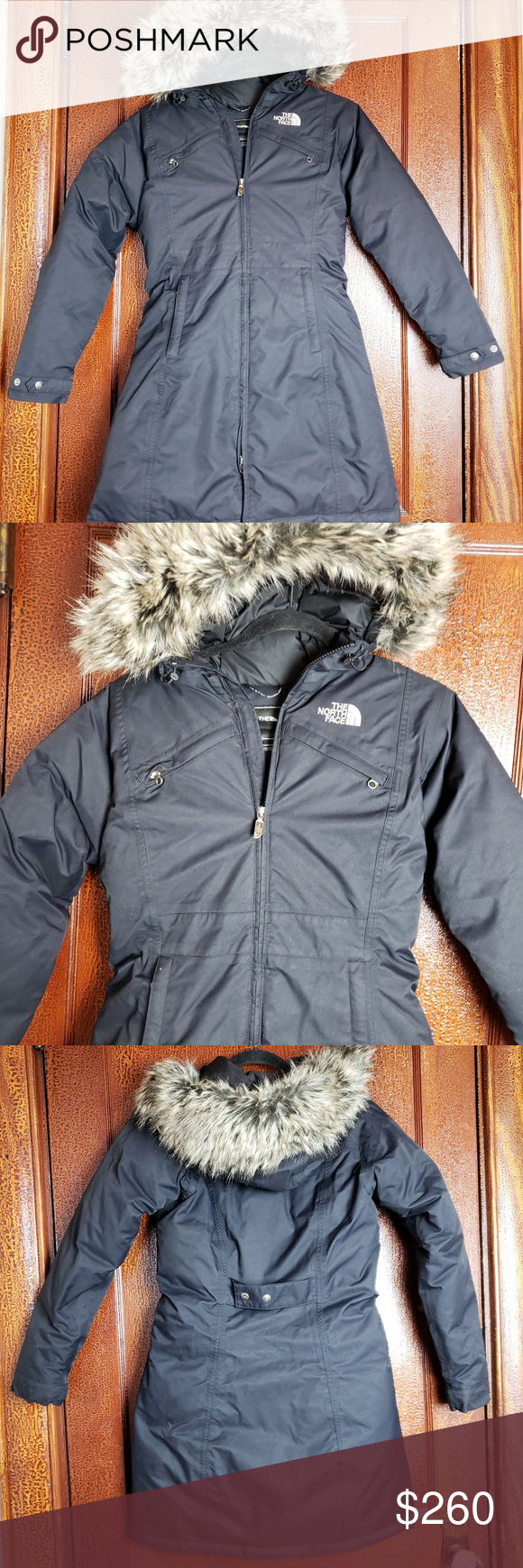 The North Face Faux Fur Hood Arctic Parka Coat Xs The North Face Arctic Parka Black Full Length Zip With Snap Button Faux Fur Hood Clothes Design Parka Coat [ 1740 x 580 Pixel ]