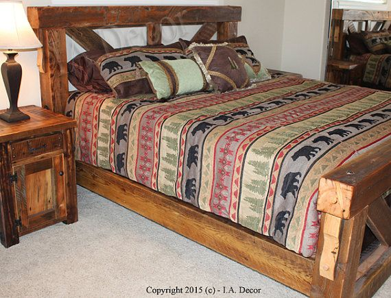 Timber Trestle Bed Rustic Bed Reclaimed And Weathered Wood | Горна ...