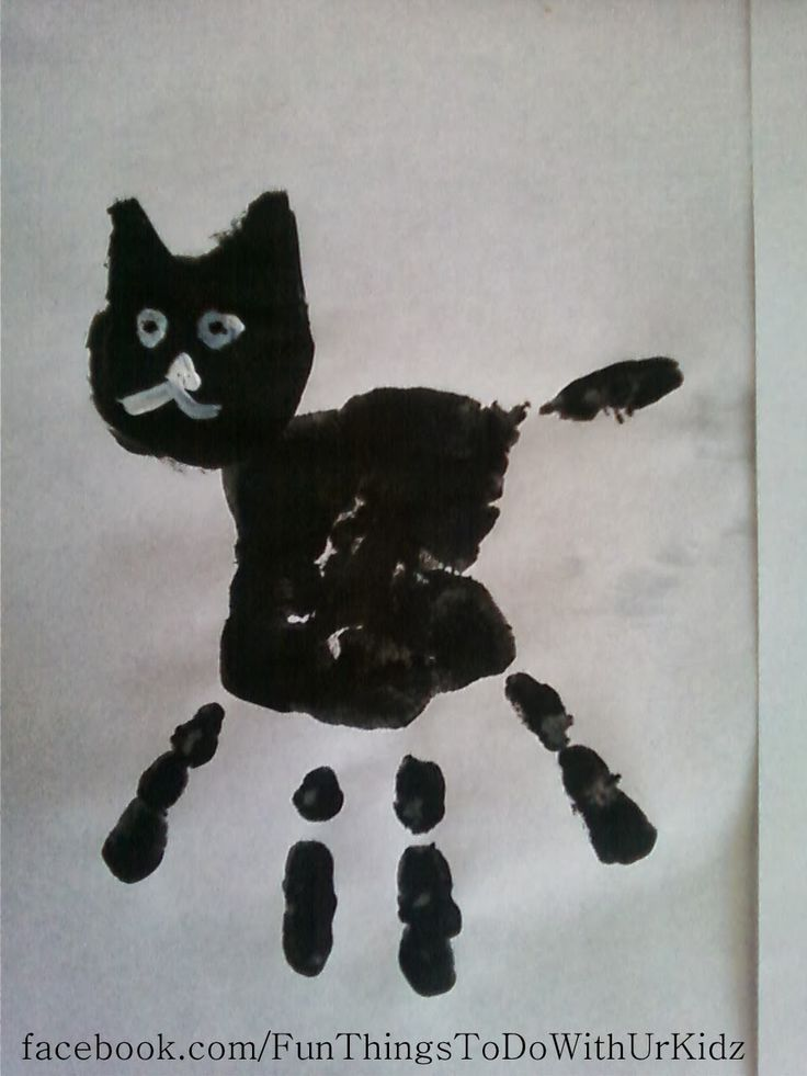 Black cat hand prints
