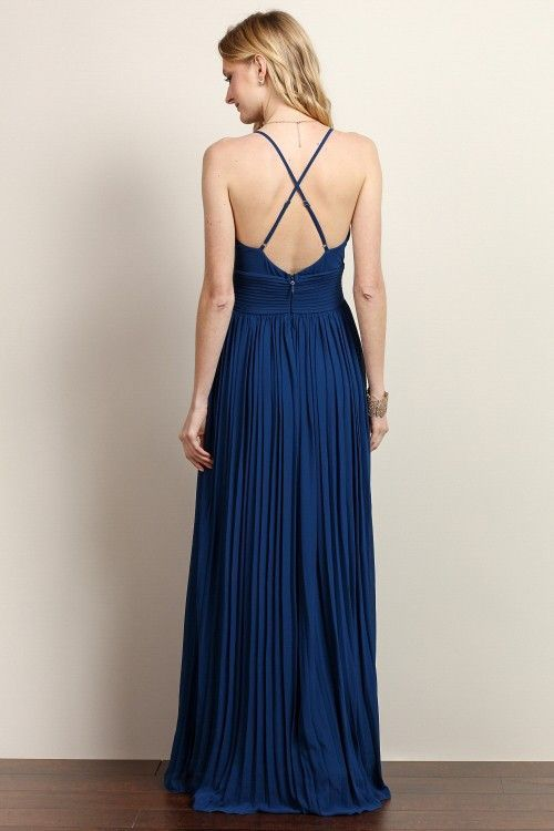 Athena Pleated Long Dress – ROUTE 32