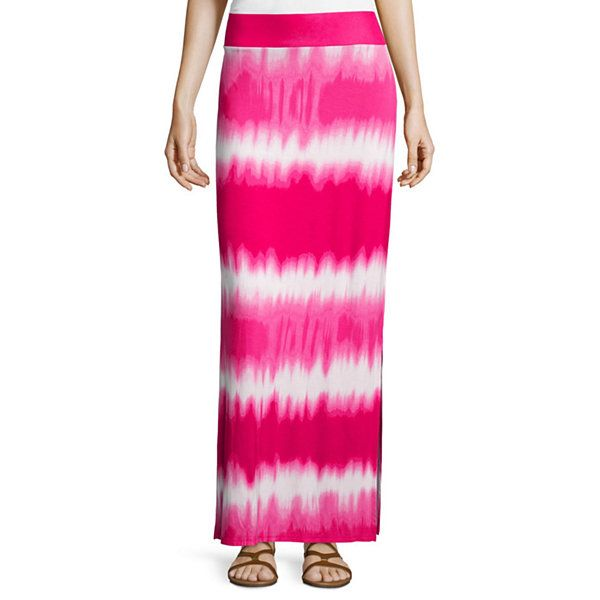 ff019945a4 a.n.a® Side-Slit Maxi Skirt - JCPenney | bottoms | Skirts, Tie dye ...