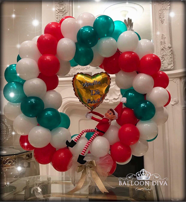 Naughty elf xmas Balloon Centrepiece in 2019 Christmas