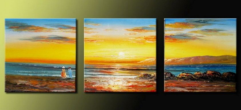 handpainted-3-piece-modern-decorative-oil-painting-on-canvas-wall ...