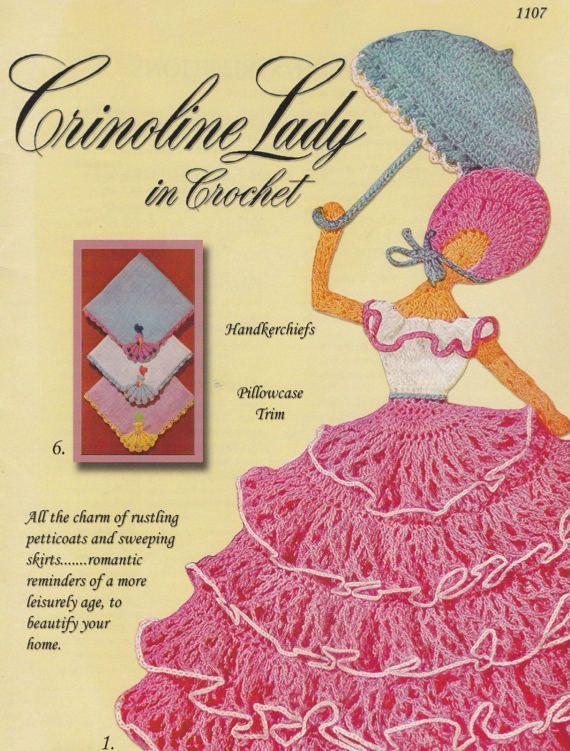 Crinoline Lady in Crochet, Yesterdazes Crochet Pattern Booklet 1107 ...