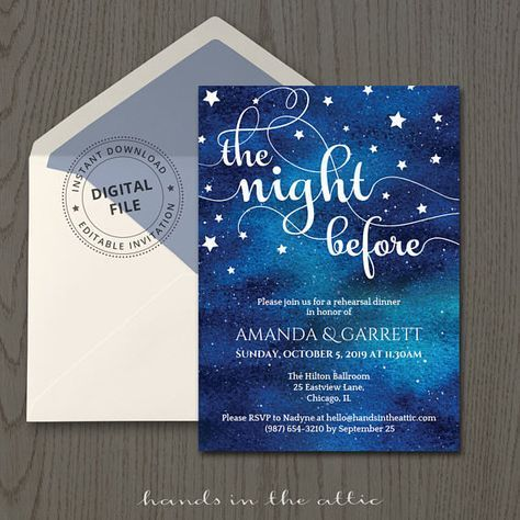 Rehearsal Dinner Invitation Template Wedding Rehearsal The Night - Pre wedding invitation templates