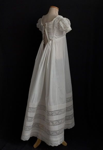 Jane Austen Clothing | Ever Lovely: White Lace Jane Austen Lawn Dress - Vintage Textile