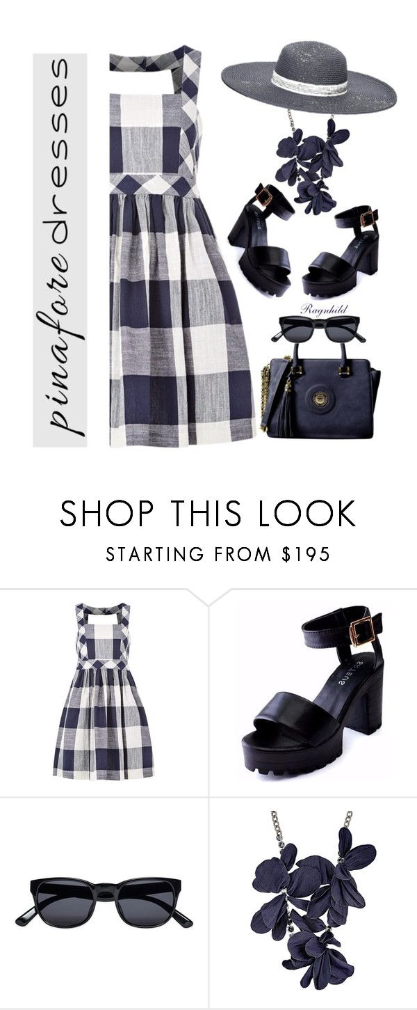 """""""60 Second Style: Pinafores"""" by ragnh-mjos ❤ liked on Polyvore featuring Louche, Lanvin and Tommy Hilfiger"""