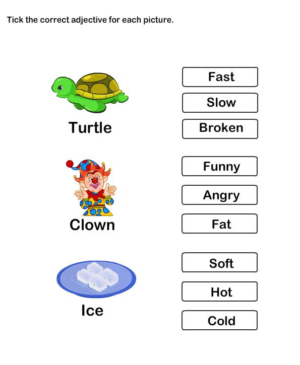Adjectives Worksheets For Kids Adriaticatoursrl