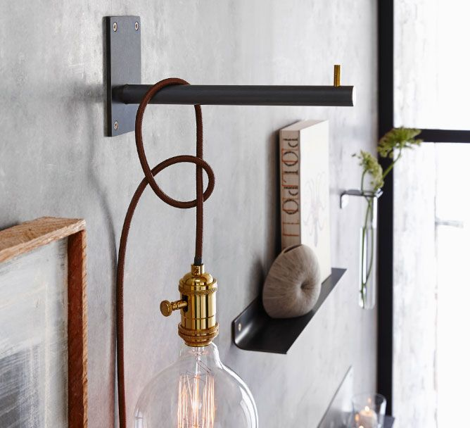 Rialto Wall Mount Hook W Cloth Cord By Roost Rome769 Rol299 Wall Lights Home Decor Online Bedside Lighting