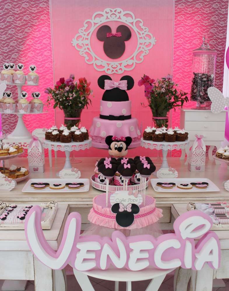 Mickey Mouse  Minnie Mouse Birthday Party Ideas  Photo 1