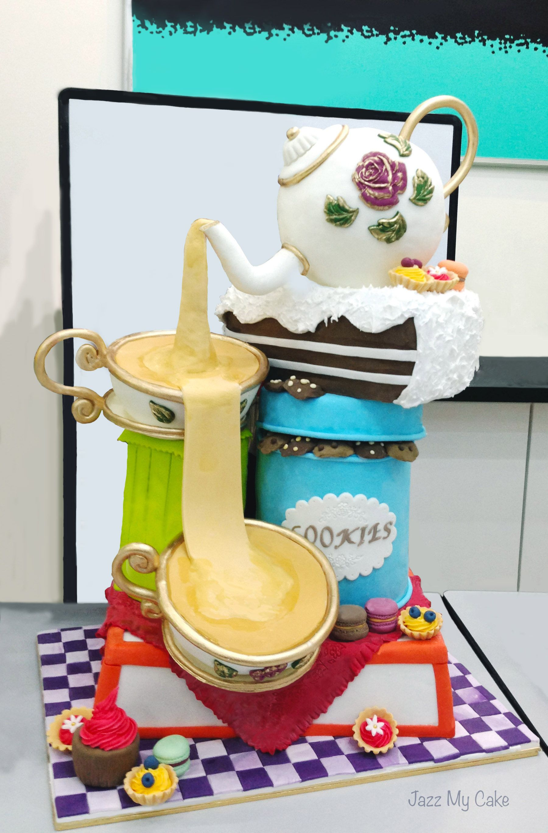 Whimsical Tea Pot Cake Everything Is Edible Made From Chocolate - Amazing edible lego chocolate stuff dreams made