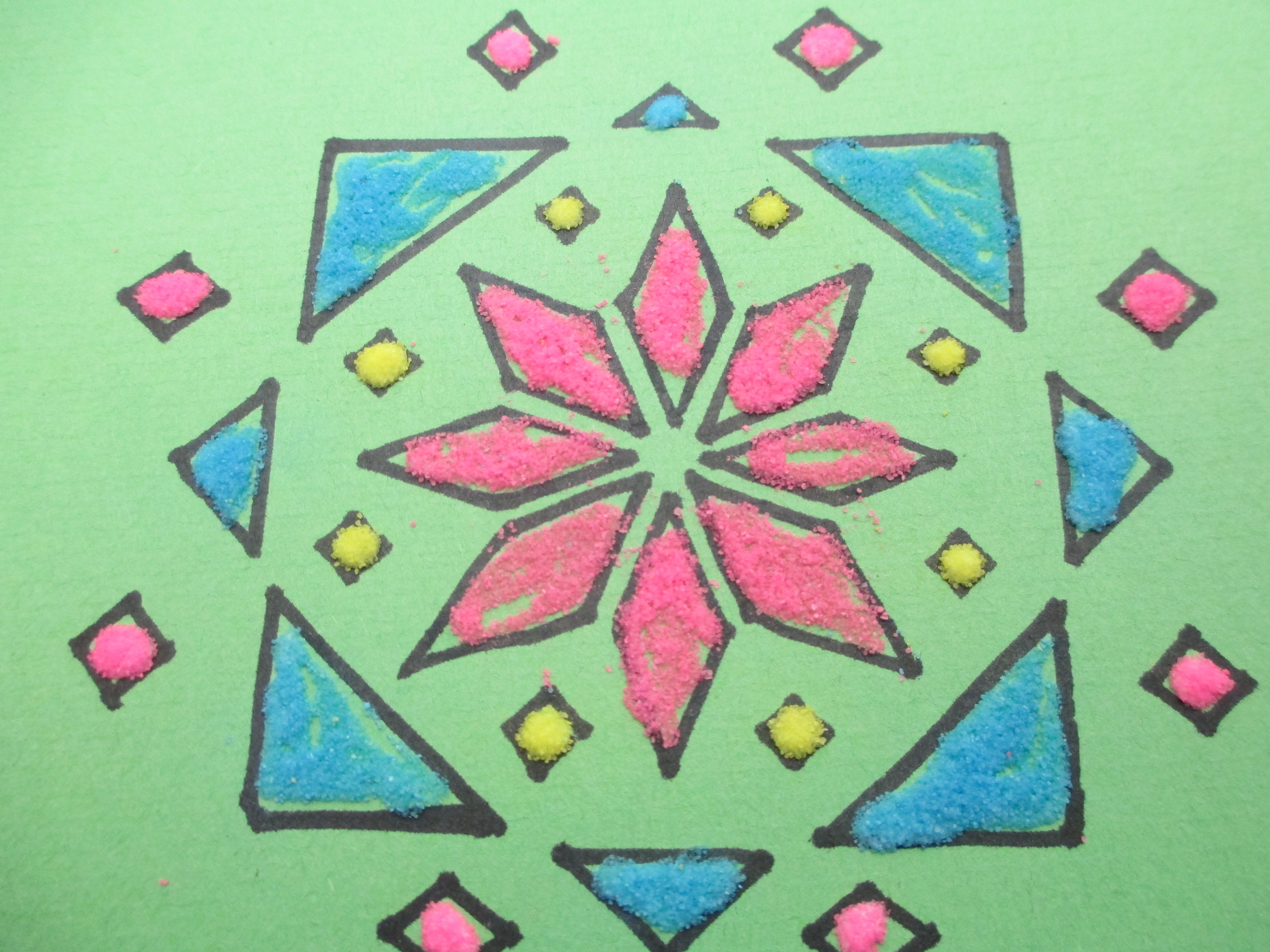 Rangoli Designs Form of Art from India India for kids