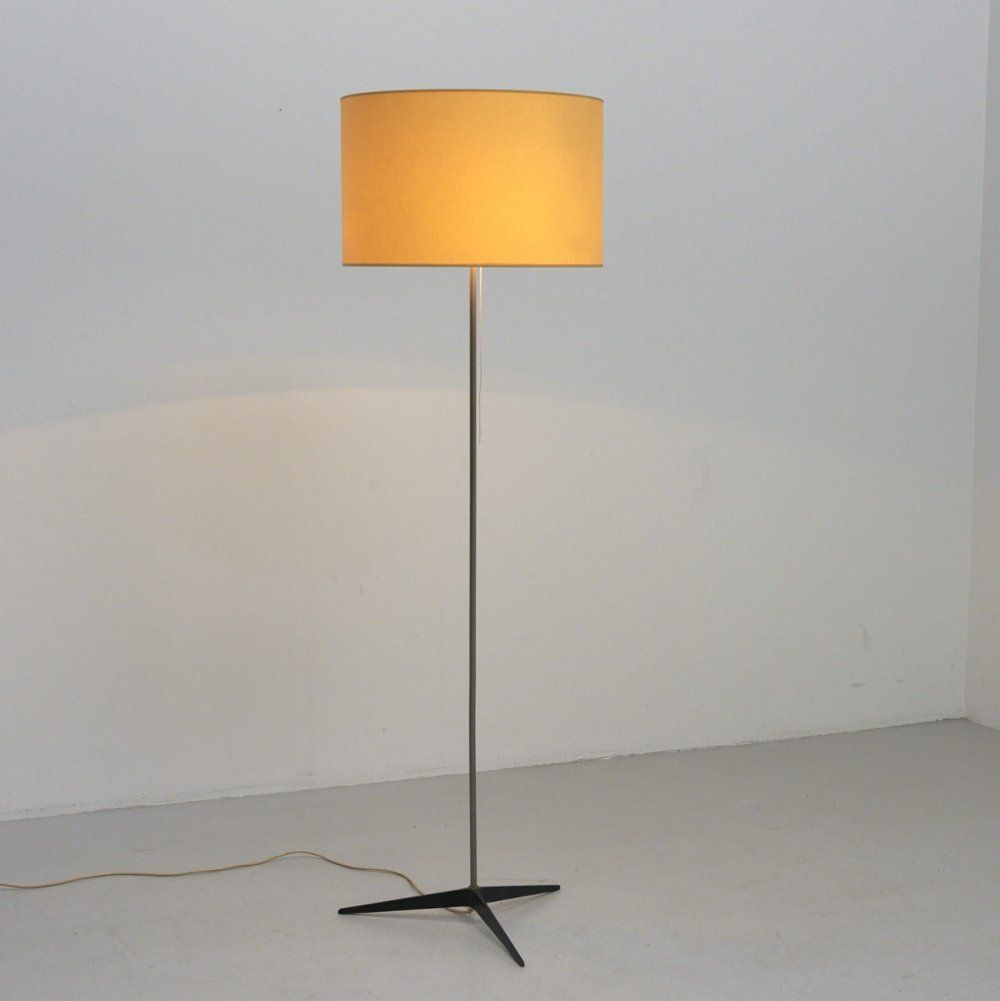 For Sale Yellow Floor Lamp With 3 Star Foot 1960s In 2020 Yellow Floor Lamps Floor Lamp Lamp