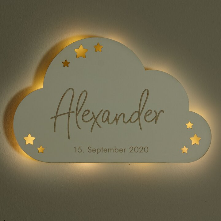 Schlummerlicht Baby Weiss Wolke Design Laublust De Laublust Holz Niederrhein Geschenke Personalisiertegeschenk In 2020 Wolkenlampe Wolken Lampe Kinderzimmer