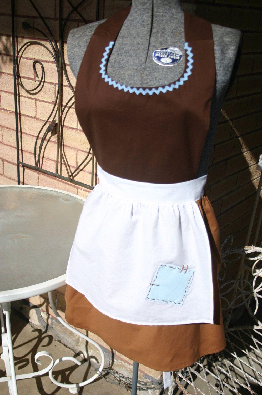 Snow white apron etsy - Adult Teen Maid Cinderella Work Costume Full Apron Disney Princess Inspired Marathon Bridal Gift Party Peasant Servant Women Sizes 14 22
