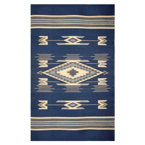 Mad Mats Navajo Recycled Indoor Outdoor Rug Navajo Blue Rugs Navajo Rugs Braided Area Rugs