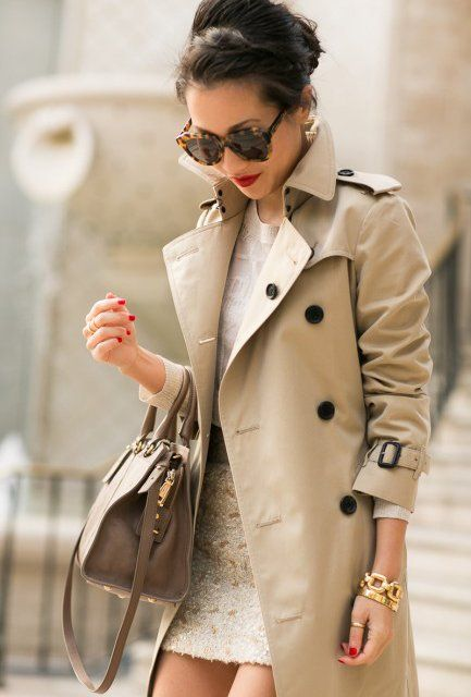 68e8cccd0f3 Honey Cotton Trench Coat by Burberry Brit | Style | Wendy's lookbook ...