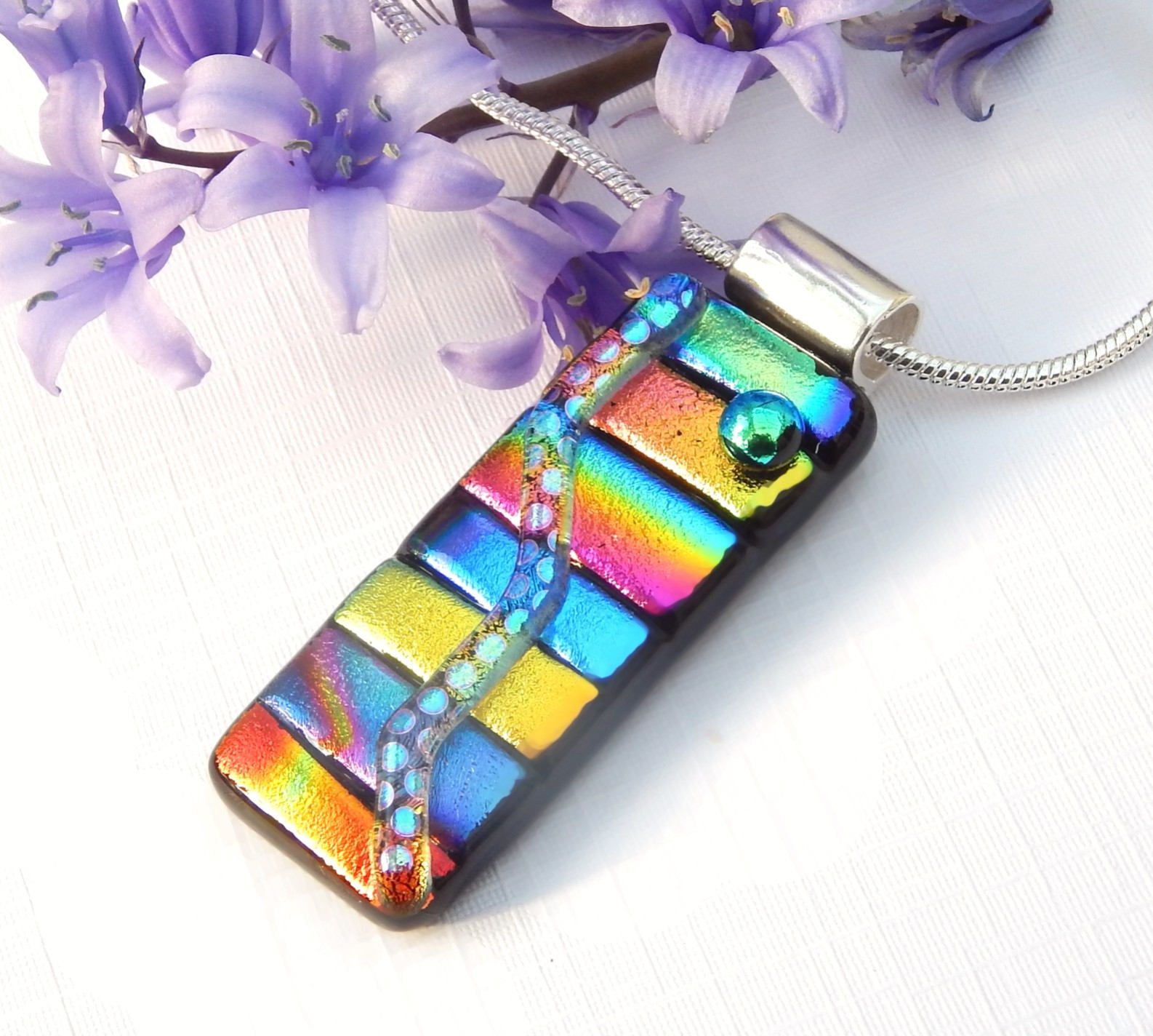 dichroic fused make and design celebrate handmade glass hgtv pendant