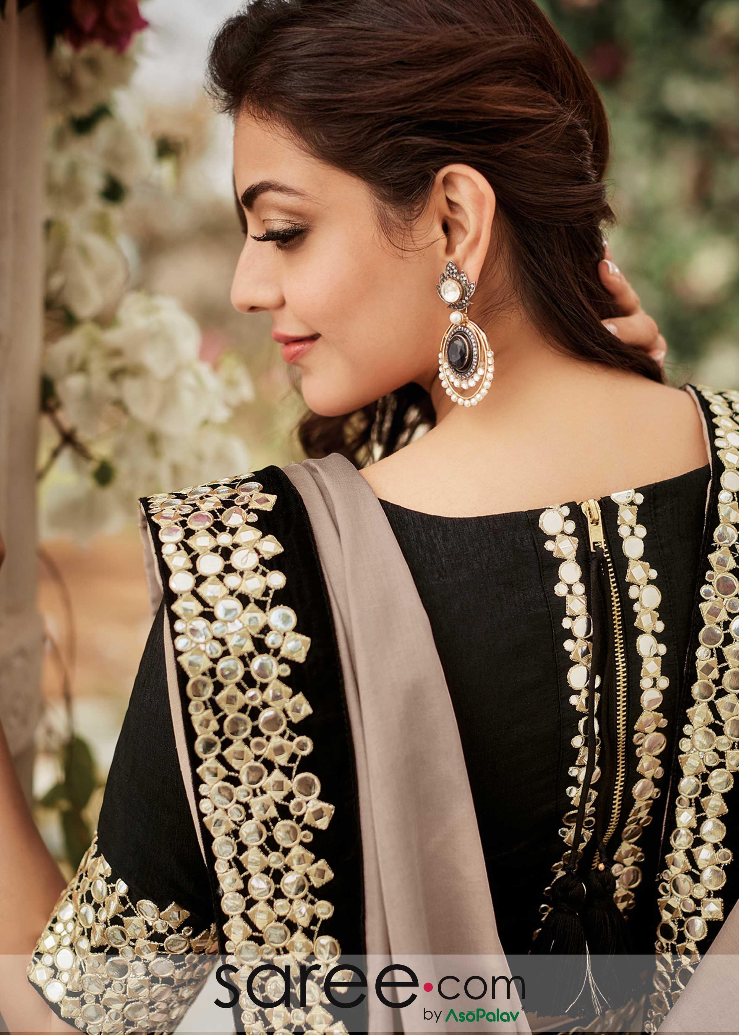 2477313edd3 Black Back Zip Blouse | Saree in 2019 | Blouse designs, Simple saree ...