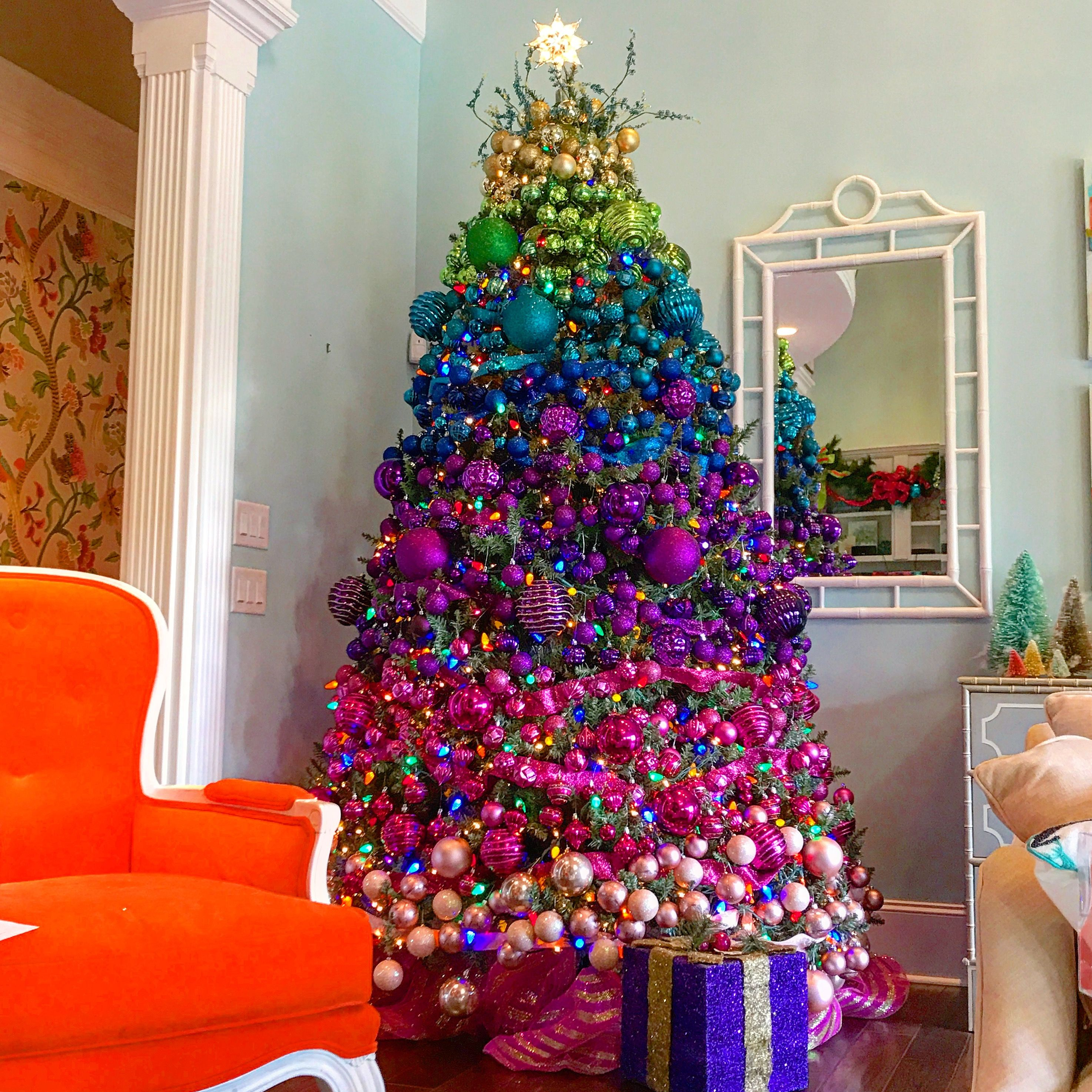 Rainbow Christmas Trees: Rainbow Christmas Tree Decor