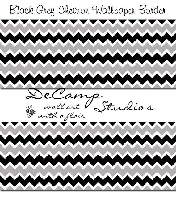 Black And Grey Chevron Wallpaper Wall Art Border Decals For Any Family Home Decor Modern Abstract Decampstudios