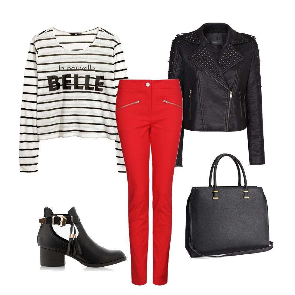 Cogdziezaile Pl Porady Stylistki Czerwone Spodnie Trendy Wiosna 2014 Fashion How To Wear Ready To Wear