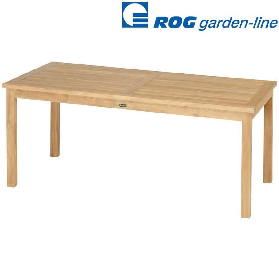 details zu roggemann tl 8130 teak tisch a qualit t fest 180x90 cm holztisch gartentisch neu. Black Bedroom Furniture Sets. Home Design Ideas