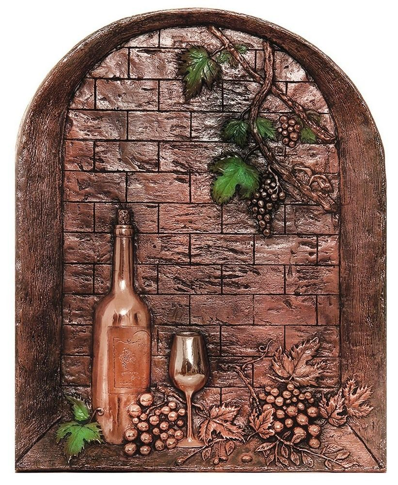 Patioproductsusa Wine Cellar 30 Mural Backsplash Wine Decor Kitchen Floral Metal Wall Art Wine Theme