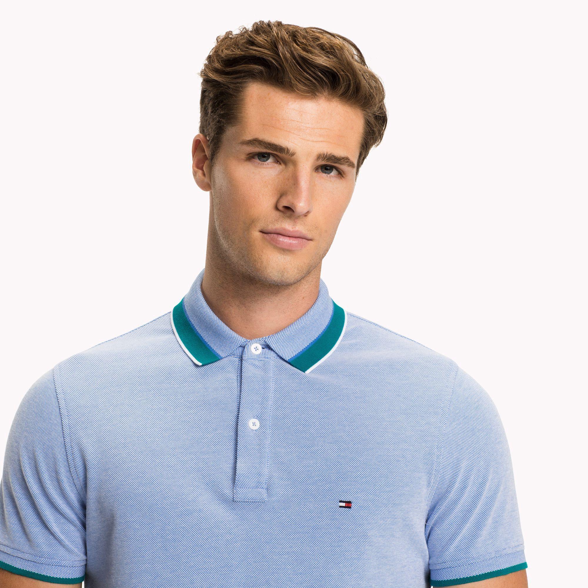 TOMMY HILFIGER Tommy Hilfiger Stretch Slim Fit T shirt Blue