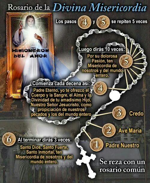 Rosario De La Misericordia Oraciones Catolicas Oraciones Religiosas Oraciones Poderosas