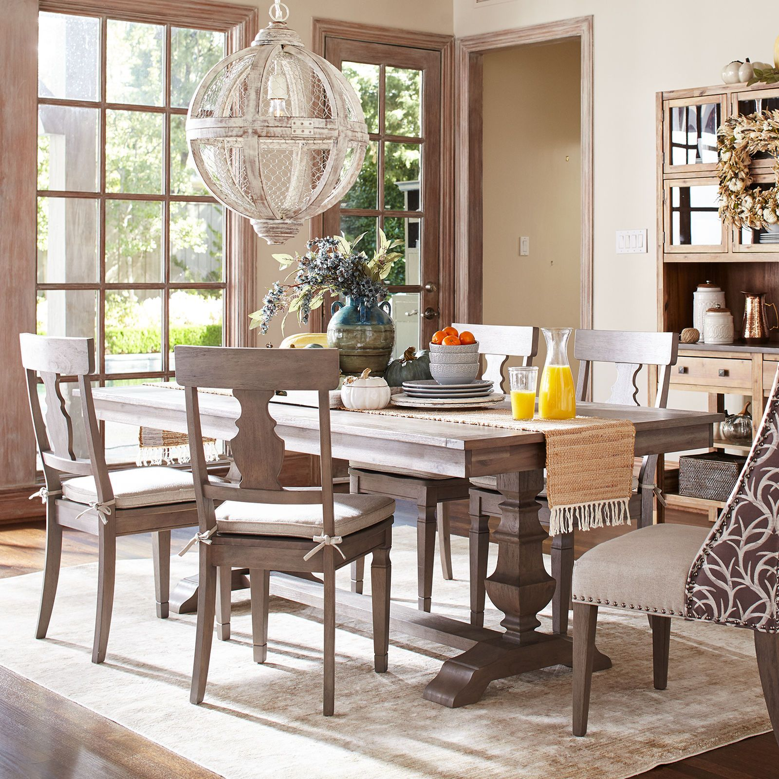 Traditional Meets Subtle Rustic For Casual Or Formal Dining Crafted Of Hardwoods Our Handsome Farmhouse Dining Chairs Grey Dining Tables Rustic Dining Chairs