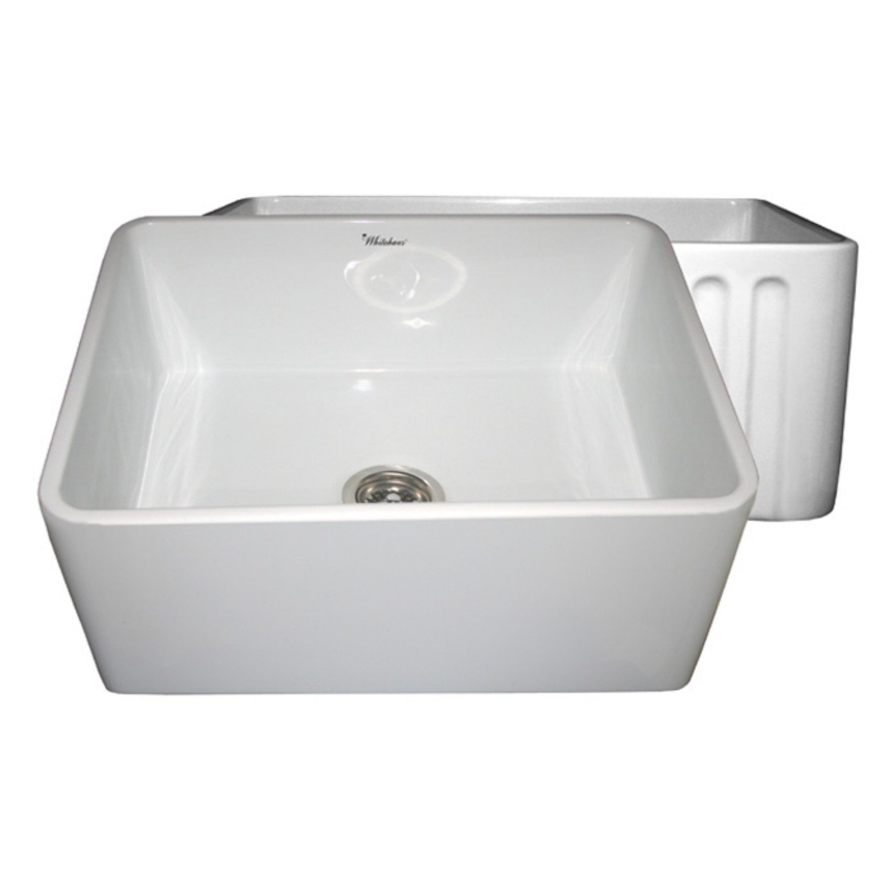 WhiteHaus Reversible Series WHFLPLN in Single Basin