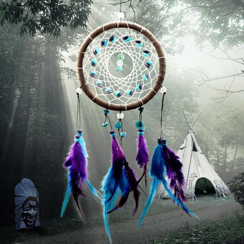 Indian Dream Catchers For Sale New Fashion Wind Chimes Indian Style Feather Pendant Dream Catcher 27