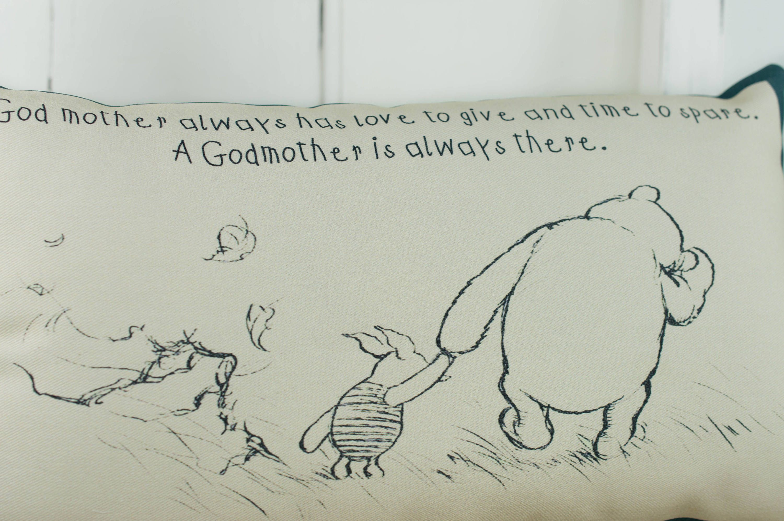 Winnie The Pooh Godmother Complete Small Pillow Mothers Day Gift