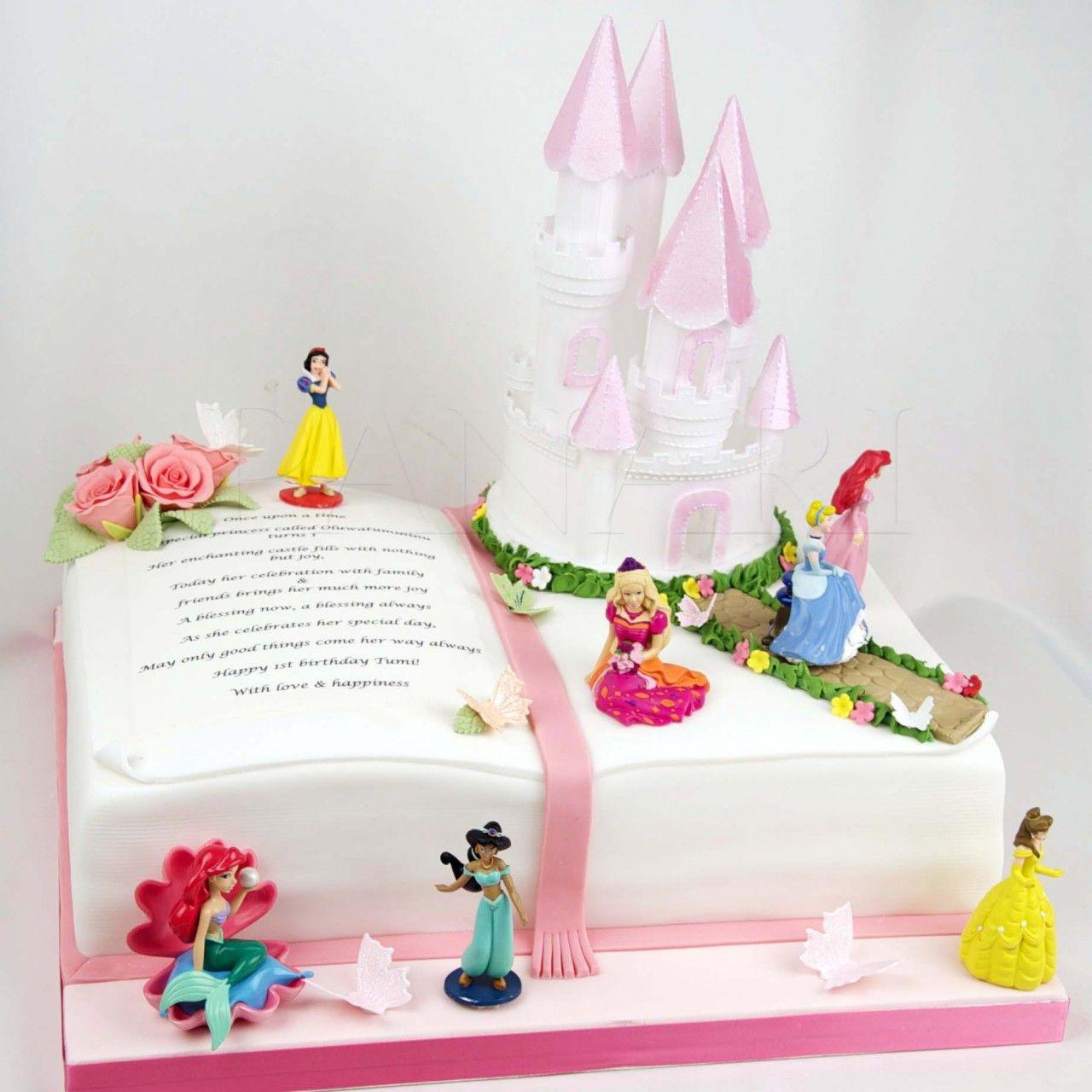 Princess Story Book Cake Bk0028 Panari Cakes Disney Books Stories