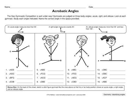 Acrobatic Angles, Lesson Plans - The Mailbox | Go Math | Pinterest ...