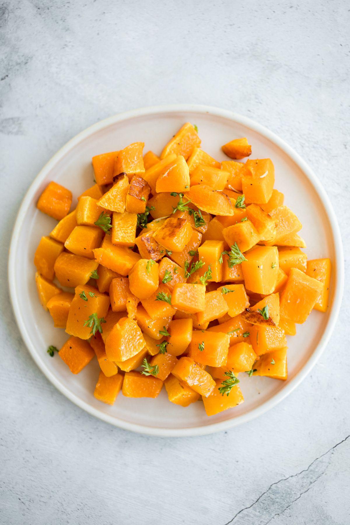 Roasted Butternut Squash Recipe In 2020 Roasted Butternut Vegetable Side Dishes Recipes Roasted Butternut Squash