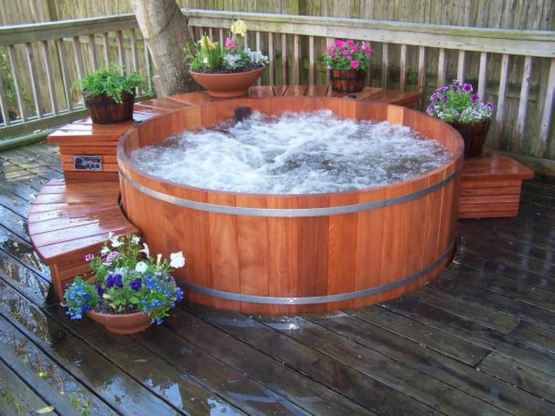 Hot Tub   ... Design of Barrel Hot Tub: Custom Cedar Barrel Hot Tub ...