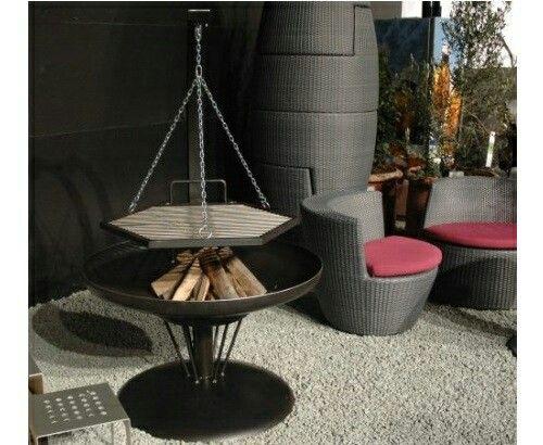 feuerschale ben handgefertigt aus stahl unbehandelt die feuerschale besteht aus hochwertigem. Black Bedroom Furniture Sets. Home Design Ideas