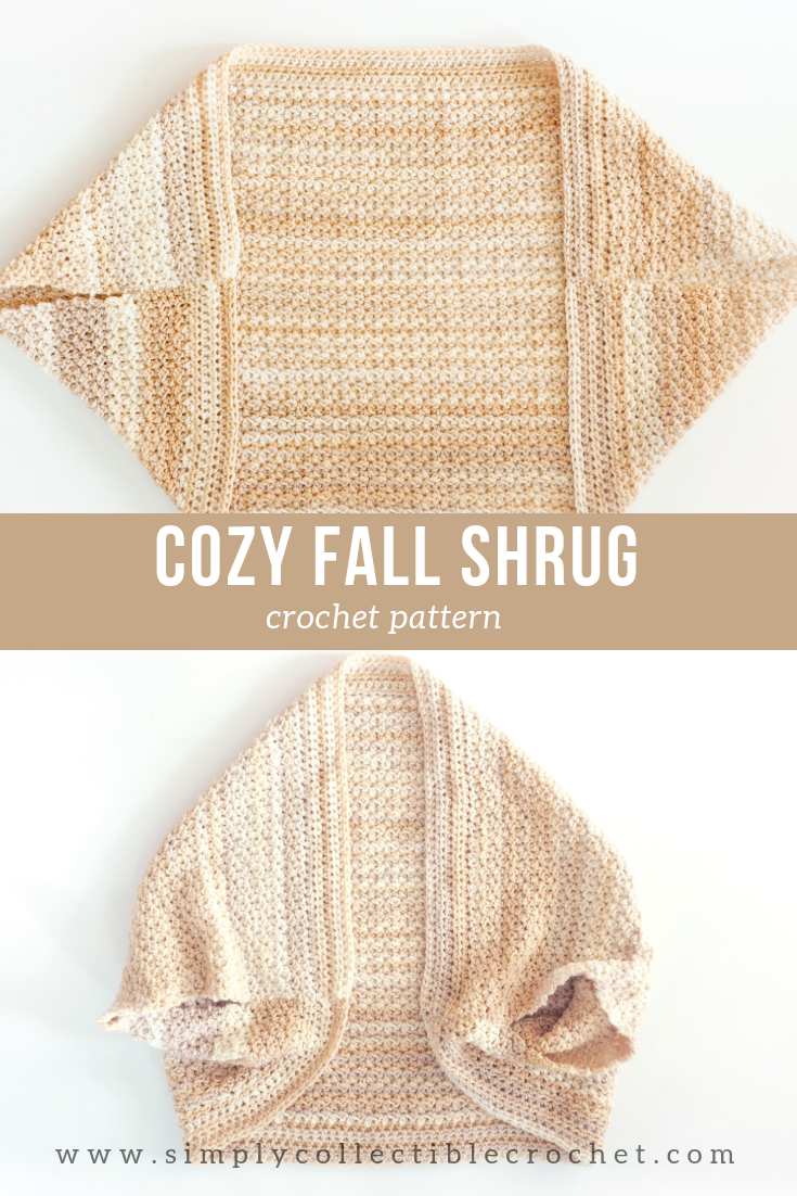 Cozy Fall Shrug Crochet Pattern #shawlcrochetpattern