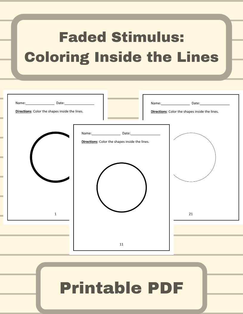 Faded Stimulus Coloring Inside The Lines Shapes Worksheets By Alldayaba Speech Language Activities Teacher Favorite Things Speech And Language