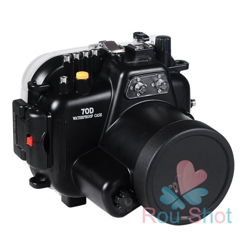 130ft Underwater 40m Waterproof Housing Case Cover 7 in 1 for Canon ...