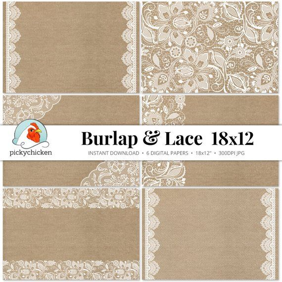 graphic relating to Printable Burlap Paper named Burlap Lace Electronic Paper 18x12 - rustic printable